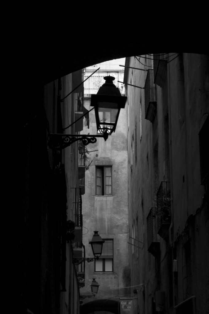 Narrow street in Barcelona